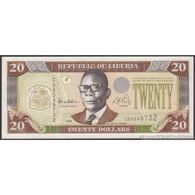 TWN - LIBERIA 23a - 20 Dollars 1999 Prefix CB UNC - Liberia