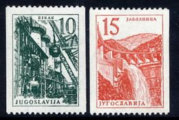 YUGOSLAVIA 1958 Definitive Coil Stamps  MNH / **.  Michel 839-40 - Unused Stamps