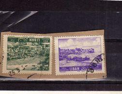 LIBANO LEBANON LIBAN 1961 VIEW OF ZAHLE VEDUTA 10p + 50p USATO USED OBLITERE' - Libano