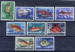 YUGOSLAVIA 1956 Marine Fauna  MNH / **.  Michel 795-803 - 1945-1992 Socialist Federal Republic Of Yugoslavia