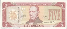 TWN - LIBERIA 26e - 5 Dollars 2009 Prefix AF UNC - Liberia
