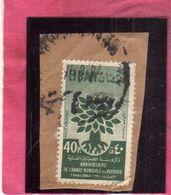LIBANO LEBANON LIBAN 1960 Uprooted Oak Emblem 40p USATO USED OBLITERE' - Libano