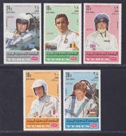 YEMEN ROYAUME AERIENS N°   88 ** MNH Neufs Sans Charnière, 5 Valeurs, TB (D4546) Champions Automobiles, Stewart, Brabham - Yemen
