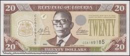 TWN - LIBERIA 28a - 20 Dollars 2003 Prefix CC UNC - Liberia
