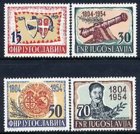 YUGOSLAVIA 1954 Serbian Insurrection Anniversary MNH / **.  Michel 751-54 - Unused Stamps