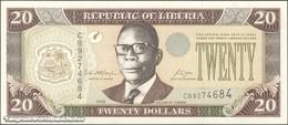 TWN - LIBERIA 28c - 20 Dollars 2006 Prefix CB UNC - Liberia