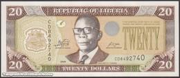 TWN - LIBERIA 28e - 20 Dollars 2009 Prefix CD UNC - Liberia
