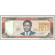TWN - LIBERIA 29f - 50 Dollars 2011 Prefix DE UNC - Liberia