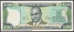 TWN - LIBERIA 30a - 100 Dollars 2003 Prefix EA UNC - Liberia