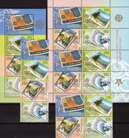 EUROPA Mazedonien 370/3 4-ZD,VB,8-KB+Block 13 ** 161€ Stamps On Stamp Sheets Blocs Sheetlet Bf 50 Years CEPT 2005 - Timbres