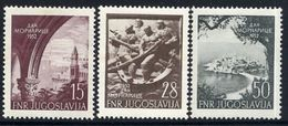YUGOSLAVIA 1952 Navy Day.  MNH / **.  Michel 704-06 - Unused Stamps