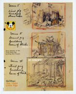 St. Vincent 1992 Disney Cartoon Animation The Three Little Pigs Year Of Pig Stories Childhood SKETCHES S/S Stamp MNH - Disney