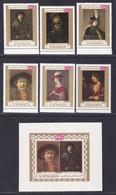 YEMEN ROYAUME N°  275,  AERIENS N° 87, BLOC ** MNH Neufs Sans Charnière, 6 Valeurs + Bloc, TB (D4548) Tableaux Rembrandt - Yémen