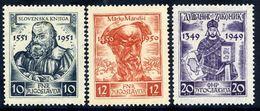 YUGOSLAVIA 1951 Medieval Writers  MNH / **.  Michel 668-70 - Unused Stamps
