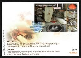 Armenien / Armenie / Armenia 2017, UNESCO, Lavash Bread, SS - FDC - Armenia