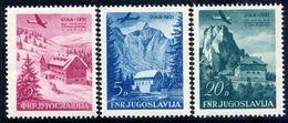 YUGOSLAVIA 1951 Mountaineering Association Meeting  MNH / **.  Michel 655-57 - Unused Stamps