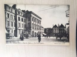 62 - CPA Animée Arras 1919 - Place Du Théâtre (Charles Ledieu, 6) - Arras