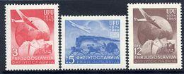 YUGOSLAVIA 1949 UPU Anniversary  MNH / **.  Michel 578-80 - Unused Stamps