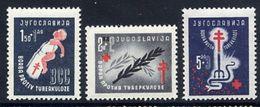 YUGOSLAVIA 1948  Anti-Tuberculosis Campaign MNH / **.  Michel 536-38 - Unused Stamps