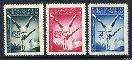 YUGOSLAVIA 1947 Balkan Games MNH / **.  Michel 524-26 - Unused Stamps