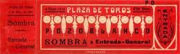 180118 TICKET CORRIDA TAUROMACHIE TAUREAU SPAIN ESPAGNE Gaufré Art Nouveau - 1914 Plaza De Toros POZOBLANCO Torero - Tickets D'entrée