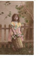 FANTAISIE---( Panier De Fleurs )--fillette--voir Scan - Portraits