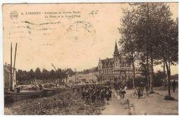 4. LOKEREN - Posterijen En Groote Markt 1926 - Lokeren
