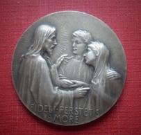 """Médaile En Argent. Mariage """"Fideli Perstetis Amore"""". 1913 - Religion & Esotérisme"""