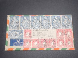 IRLANDE - Enveloppe Pour Les Etat Unis En 1954 , Affranchissement Important Plaisant - L 12365 - 1949-... Republic Of Ireland