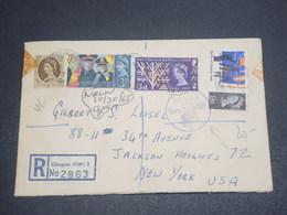 GRANDE BRETAGNE - Enveloppe En Recommandé De Glasgow Pour Les Etats Unis En 1965 Avec Contrôle Douanier - L 12366 - Postmark Collection