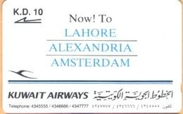 Kuwait - GPT,  01KWAA, Kuwait Airways, 10 K.D, 10.000ex, 1993, Used - Kuwait