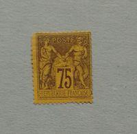75cts SAGE N°99 NSG EN  2eme CHOIX - 1876-1898 Sage (Type II)