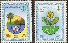 Saudi Arabia 1986 World Food Day 2 Values MNH - Saudi Arabia