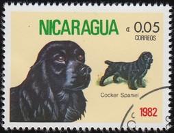 NICARAGUA - Scott #1144 Cocker Spaniels / Used Stamp - Dogs