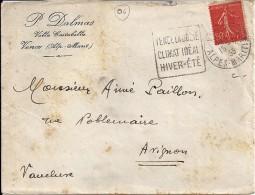 06 - ALPES MARITIMES - VENCE -  DAGUIN FLAMME  - 1933   VEN101 - Marcofilia (sobres)