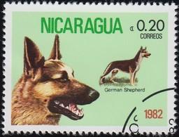 NICARAGUA - Scott #1145 German Shepherds / Used Stamp - Dogs