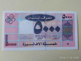 5000 Livres 1994 - Lebanon
