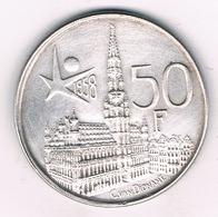 50 FRANK 1958 VL (expo 58 Brussel) BELGIE /68G/ - 1951-1993: Baudouin I