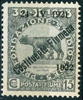 FIUME, OCCUPAZIONE ITALIANA, ITALIAN OCCUPATION, COSTITUENTE FIUMANA, 1922, NUOVO (MNH**), 15 C. Sass. 181   Scott 163 - 8. WW I Occupation