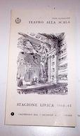 Teatro Scala Milano Calendario Stagione Dicembre 1960 Callas Corelli Fracci - Calendars