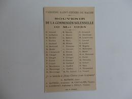 Image Pieuse De La Communion De La Paroisse De Saint-Pierre-de-Macon (71) Du 10 Mai 1934 Par Le Curé G. Mathieu. - Religion & Esotérisme