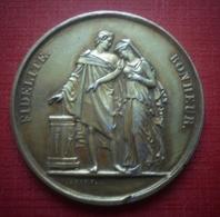 """Médaile En Argent. Mariage Chrétien. """"Fidélité Bonheur"""". 1865 - Religion & Esotérisme"""