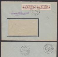 """ZKD-Brief B20I M Plattenfehler """"T"""" Beschädigt SEBNITZ Elektrowerkzeuge, Zentraler Kurierdienst Der DDR - [6] Oost-Duitsland"""