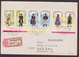 Volkstrachten Mönchgut Rügen, Spreewald Thüringen  DDR 1074-79 Zdr. RBf Portogenau - [6] Oost-Duitsland