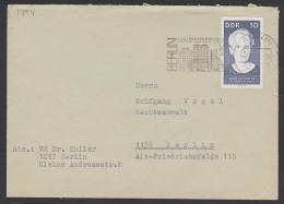MWSt. BERLIN Hauptstadt Der DDR Ortsbrief Mit Marie Curie An Rechtsanwalt Vogel - [6] République Démocratique