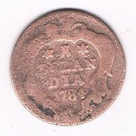 DUIT 1784 ZEELAND  NEDERLAND /71G/ - [ 1] …-1795 : Former Period
