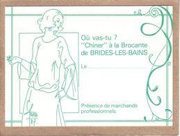 """ILLUSTRATEUR R. FARABOZ , 1987 - SAVOIE , FEMME - OU VAS TU ? , """" CHINER """" A LA BROCANTE DE BRIDES LES BAINS - Illustrateurs & Photographes"""