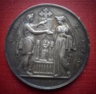 Médaile En Argent. Mariage Chrétien. 1853. - Religion & Esotérisme