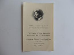 Image Du Souvenir De Valentine Bernard De La Vernette Baronne Roger D'Anglejan Rappelée à Dieu Le 19/12/1946 à 72 Ans. - Religion & Esotérisme