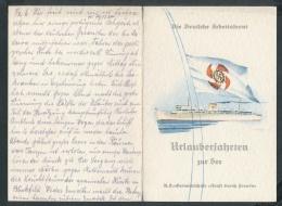 Speise Karte Der Wilhelm Gustloff-seltenes Dokument ....(ze7617 ) -siehe Bild - Briefe U. Dokumente
